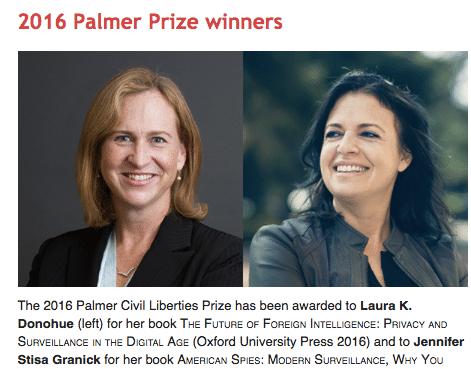 2016 Palmer Civil Liberties Prize